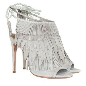 Aquazurra 'So Pocahontas 105'  gray suede heels